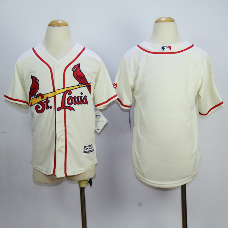 Youth St. Louis Cardinals Blank Cream MLB Jerseys