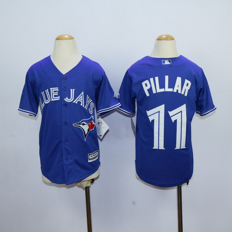 Youth Toronto Blue Jays 11 Pillar Blue MLB Jerseys