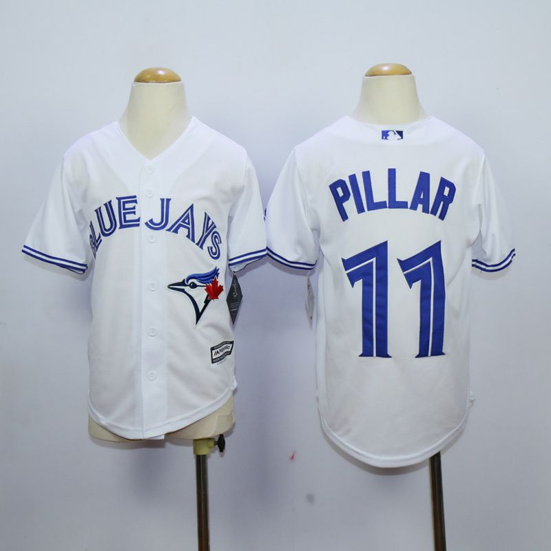 Youth Toronto Blue Jays 11 Pillar White MLB Jerseys
