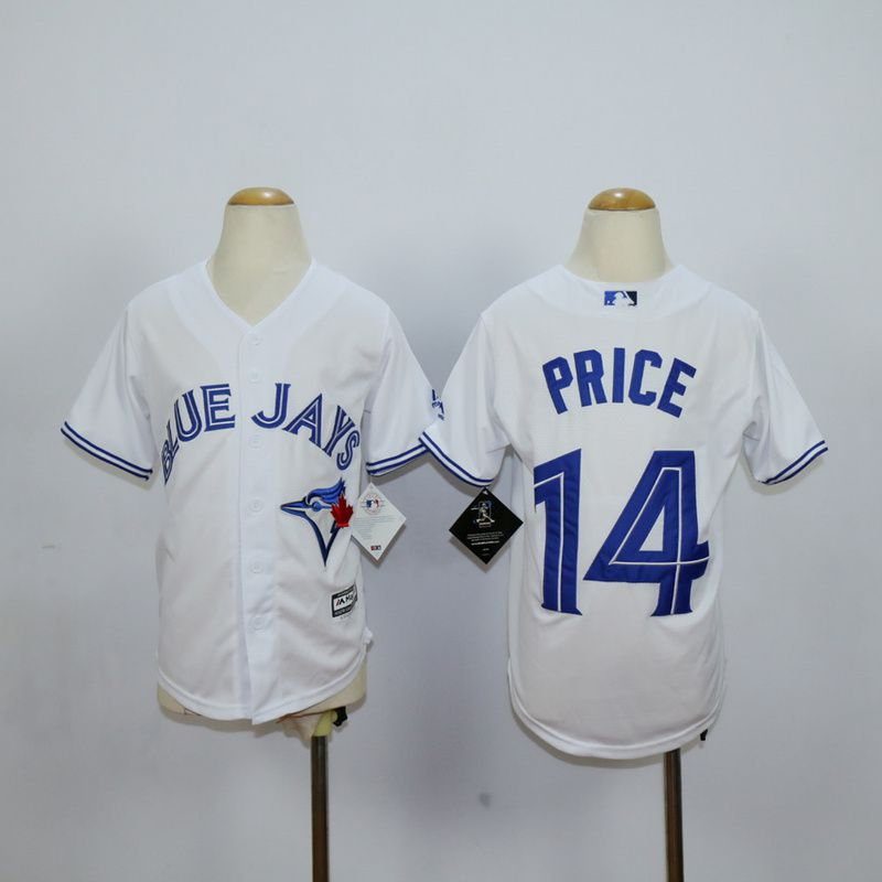 Youth Toronto Blue Jays 14 Price White MLB Jerseys
