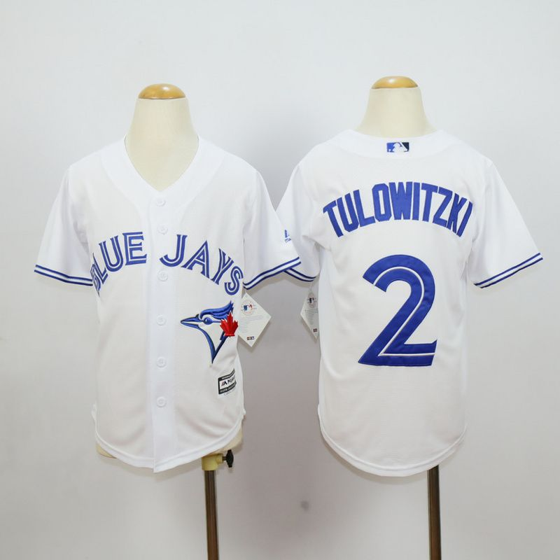 Youth Toronto Blue Jays 2 Tulowitzki White MLB Jerseys
