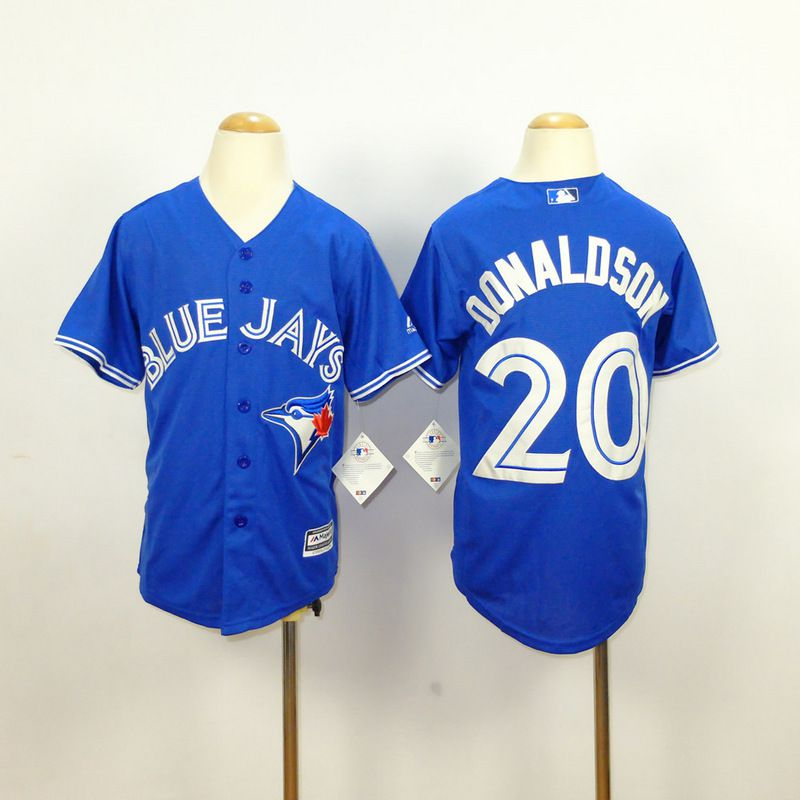 Youth Toronto Blue Jays 20 Donaldson Blue MLB Jerseys
