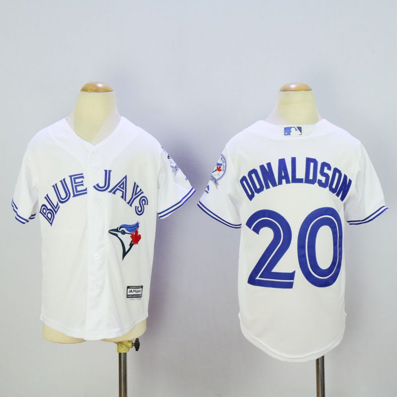 Youth Toronto Blue Jays 20 Donaldson White MLB Jerseys