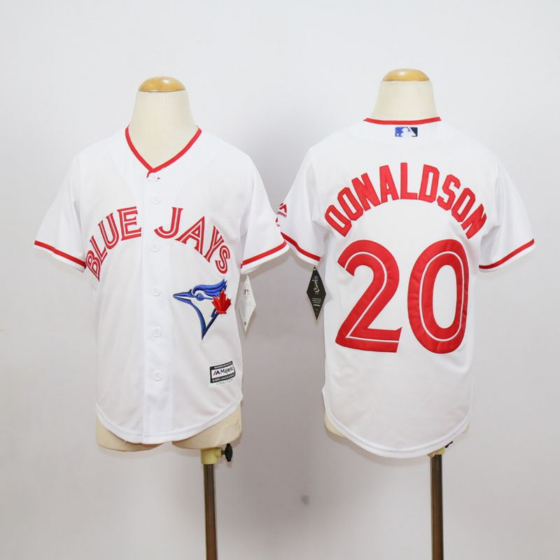 Youth Toronto Blue Jays 20 Donaldson White red MLB Jerseys