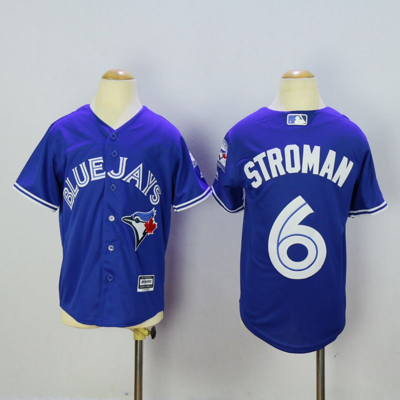 Youth Toronto Blue Jays 6 Stroman Blue MLB Jerseys