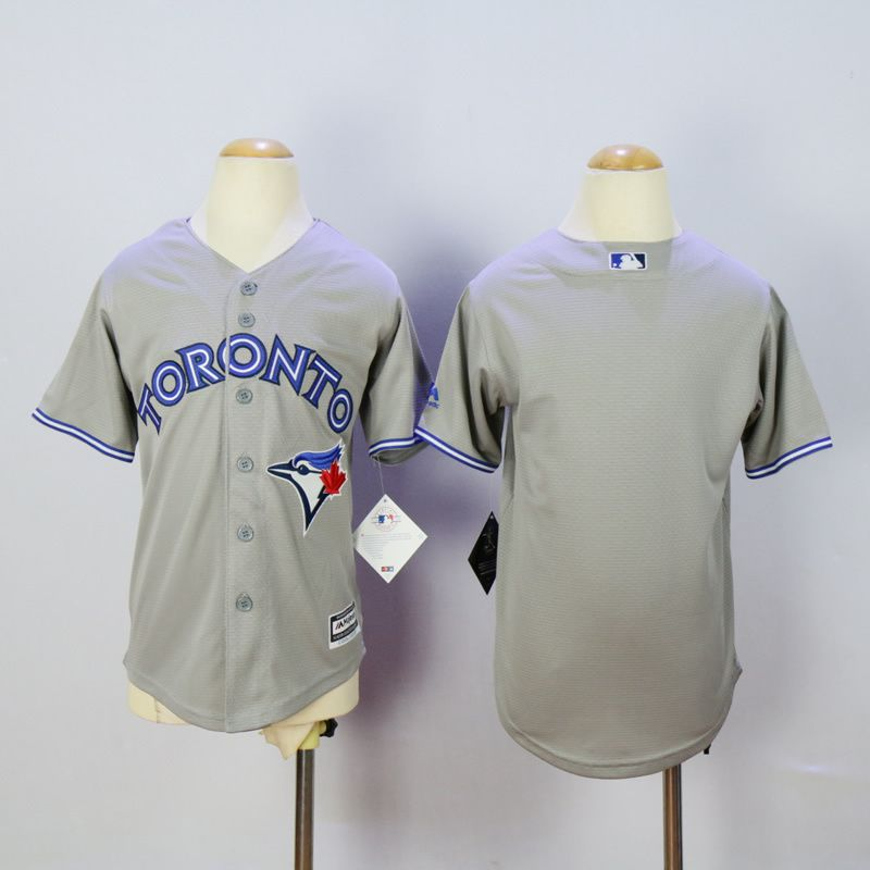 Youth Toronto Blue Jays Blank Grey MLB Jerseys