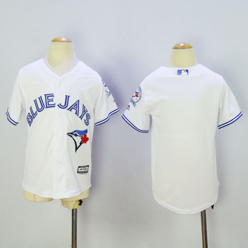 Youth Toronto Blue Jays Blank White MLB Jerseys