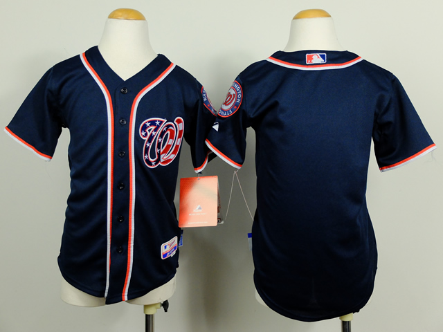 Youth Washington Nationals Blank Blue MLB Jerseys