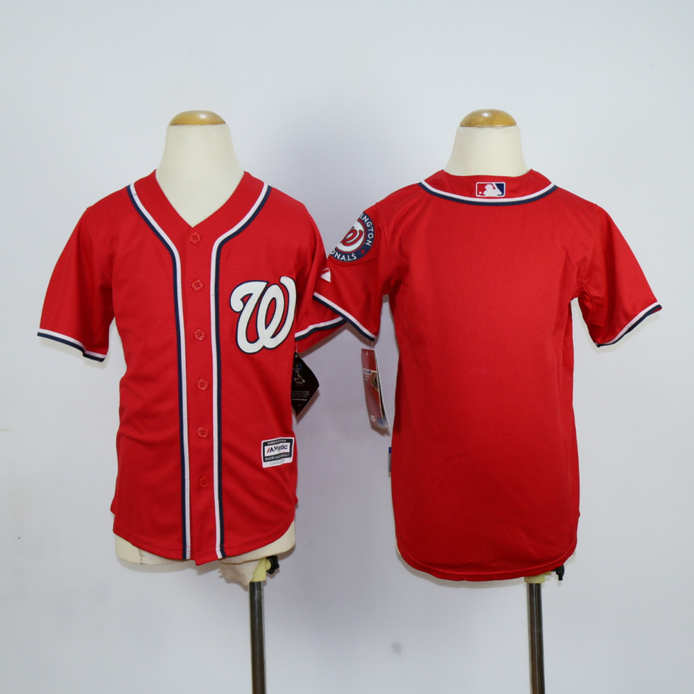 Youth Washington Nationals Blank Red MLB Jerseys