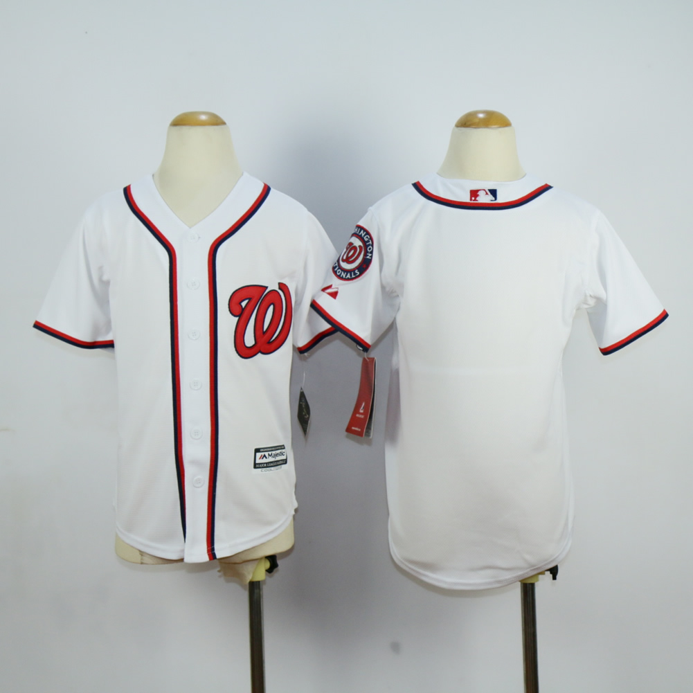 Youth Washington Nationals Blank White MLB Jerseys