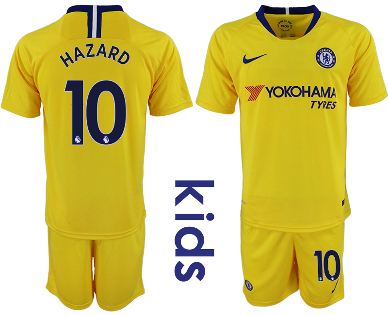 2018_2019 Club Chelsea away Youth 10 soccer jerseys