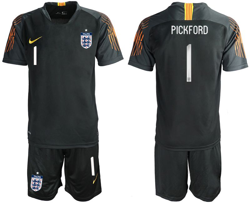 Men 2018 World Cup England black goalkeeper 1 Soccer Jerseys