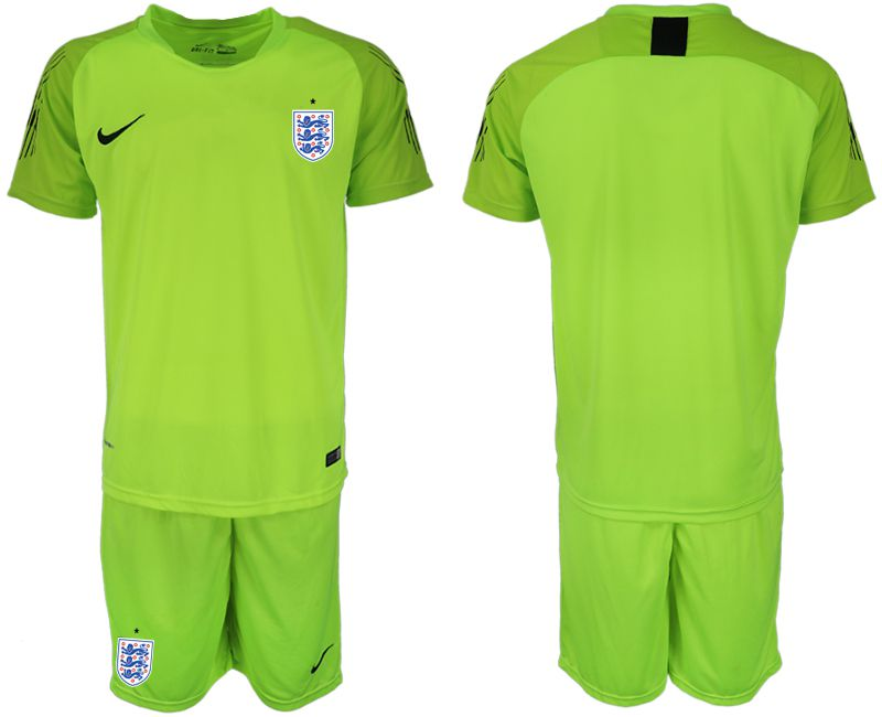 Men 2018 World Cup England fluorescent green goalkeeper Soccer Jerseys