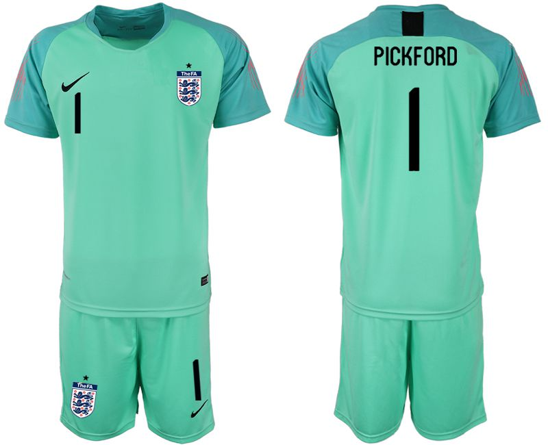 Men 2018 World Cup England green goalkeeper 1 Soccer Jerseys