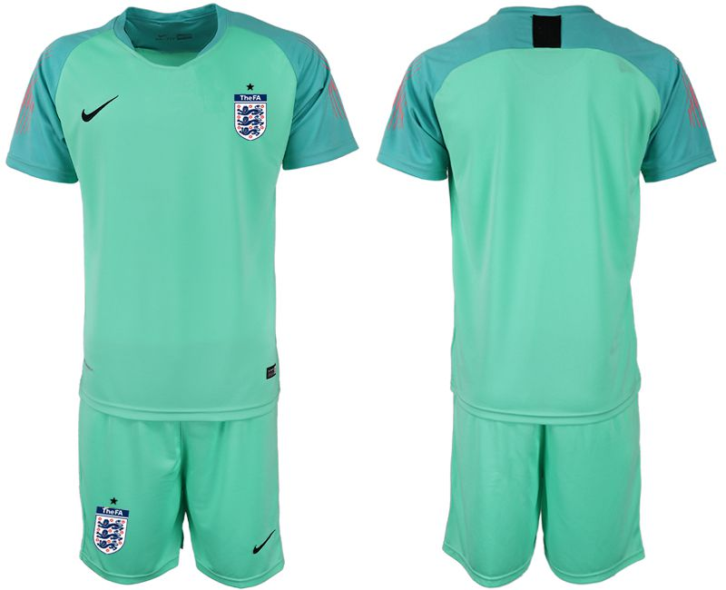 Men 2018 World Cup England green goalkeeper Soccer Jerseys