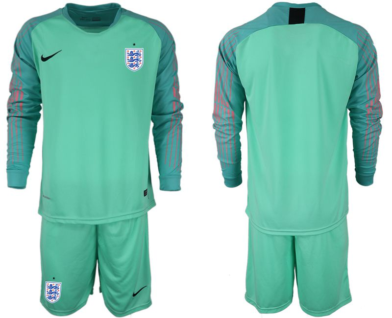 Men 2018 World Cup England green goalkeeper long sleeve Soccer Jerseys