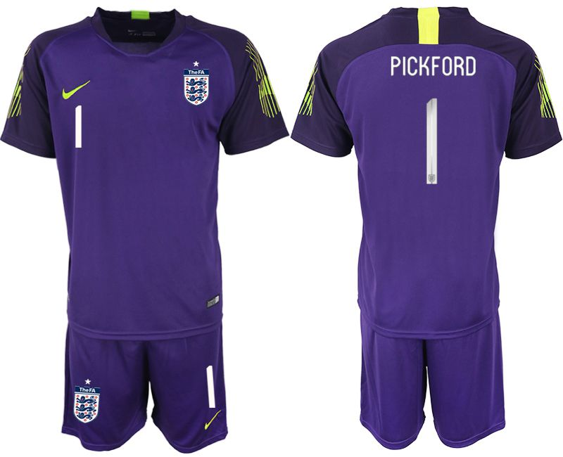 Men 2018 World Cup England purple goalkeeper 1 Soccer Jerseys