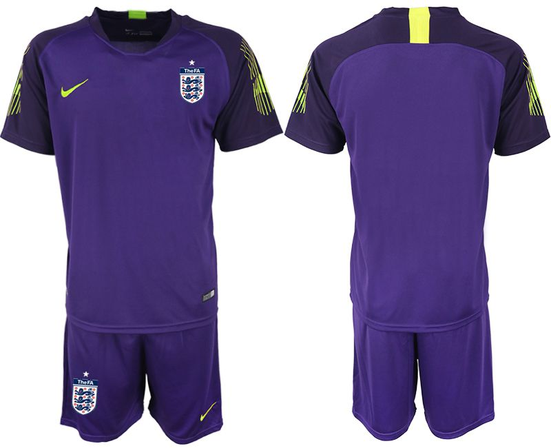 Men 2018 World Cup England purple goalkeeper Soccer Jerseys