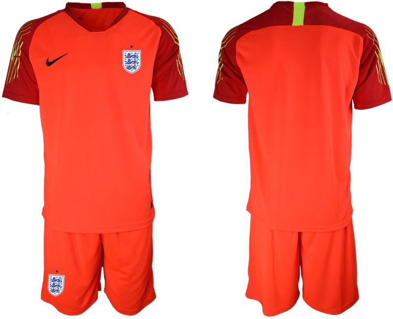 Men 2018 World Cup England red goalkeeper Soccer Jerseys