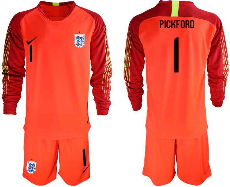 Men 2018 World Cup England red goalkeeper long sleeve 1 Soccer Jerseys