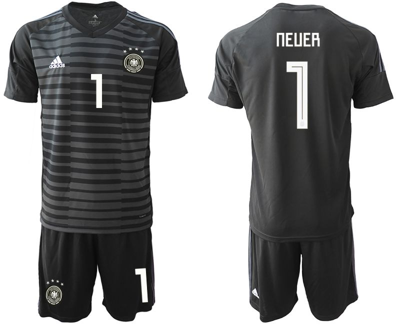 Men 2018 World Cup Germany black goalkeeper 1 Soccer Jerseys