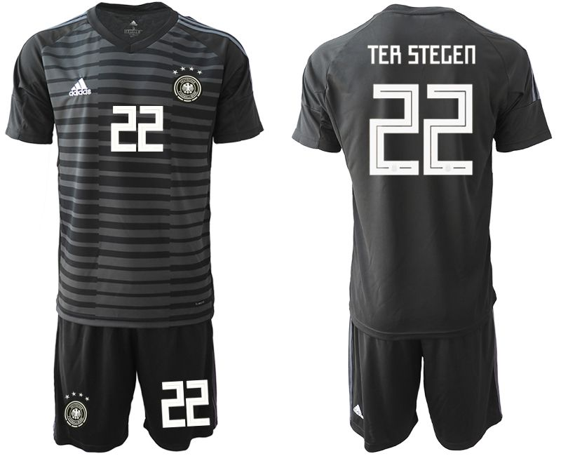 Men 2018 World Cup Germany black goalkeeper 22 Soccer Jerseys