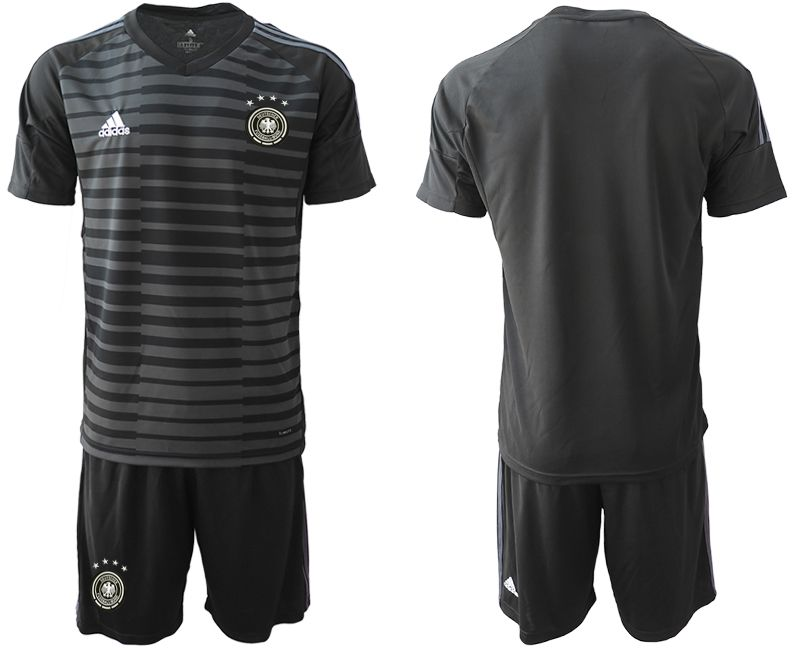 Men 2018 World Cup Germany black goalkeeper Soccer Jerseys