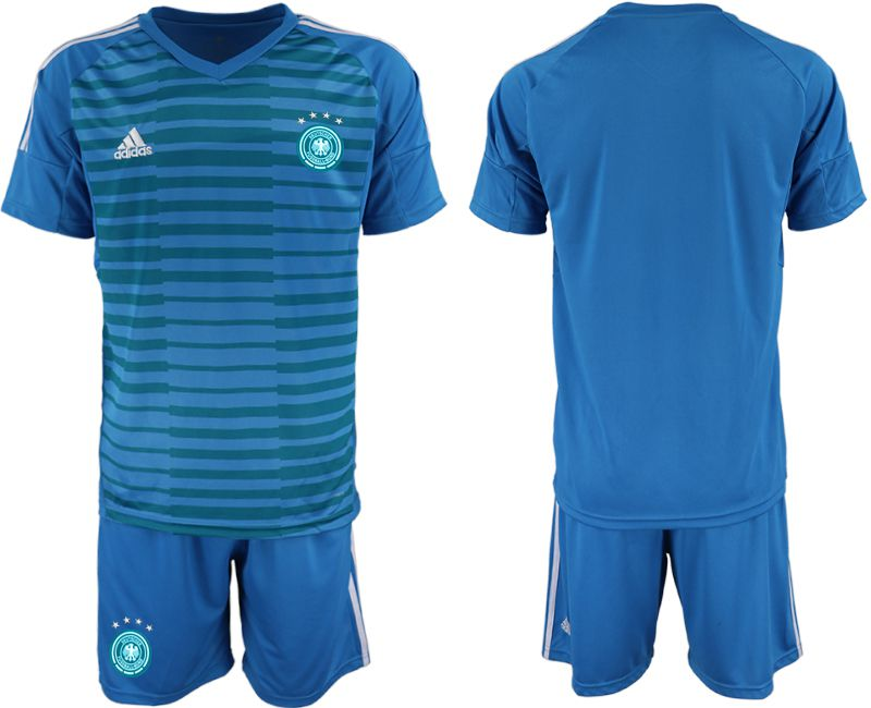 Men 2018 World Cup Germany blue goalkeeper Soccer Jerseys