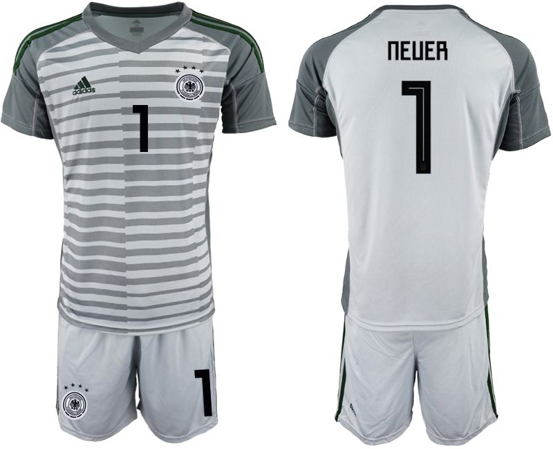 Men 2018 World Cup Germany gray goalkeeper 1 Soccer Jerseys