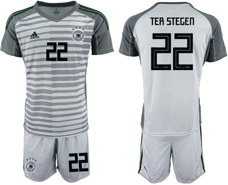 Men 2018 World Cup Germany gray goalkeeper 22 Soccer Jerseys