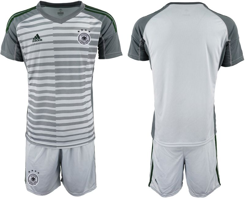 Men 2018 World Cup Germany gray goalkeeper Soccer Jerseys