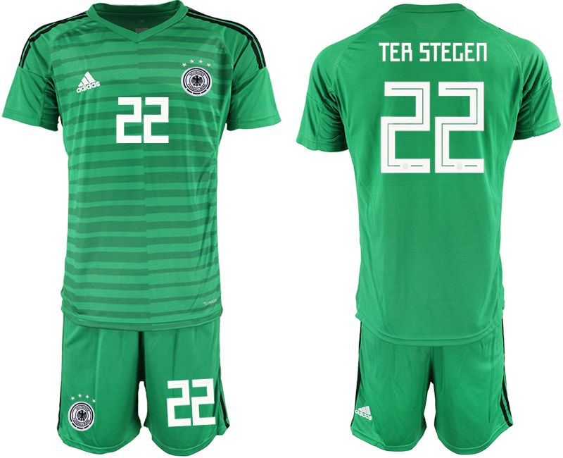 Men 2018 World Cup Germany green goalkeeper 22 Soccer Jerseys