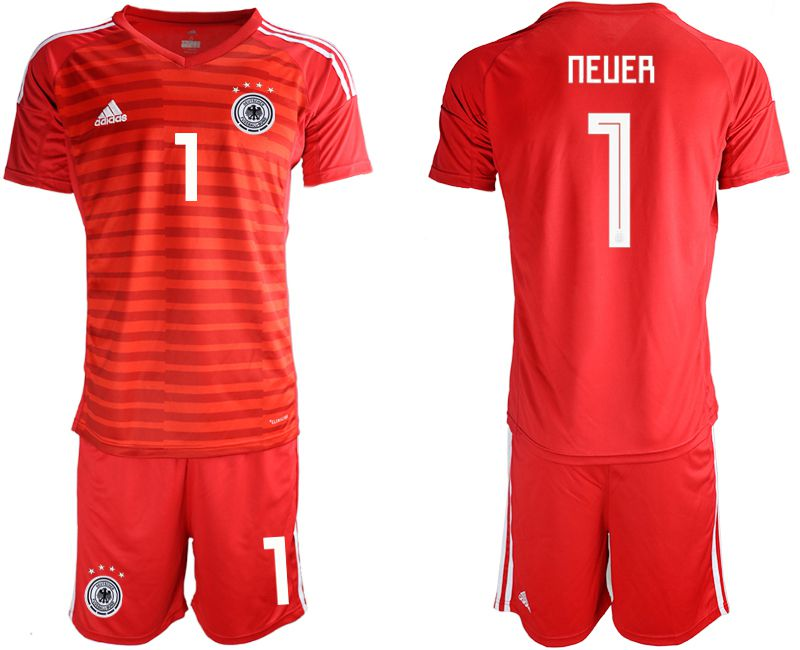 Men 2018 World Cup Germany red goalkeeper 1 Soccer Jerseys