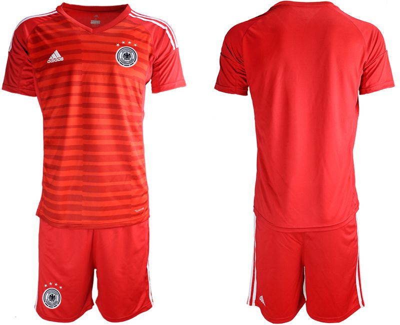 Men 2018 World Cup Germany red goalkeeper Soccer Jerseys