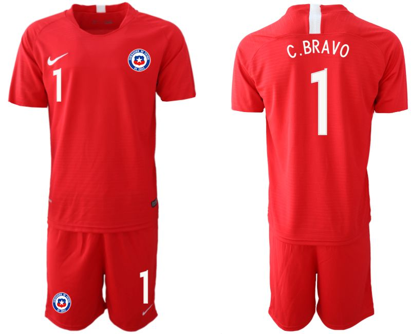 Men 2018-2019 National Team Chile home 1 red Soccer Jerseys