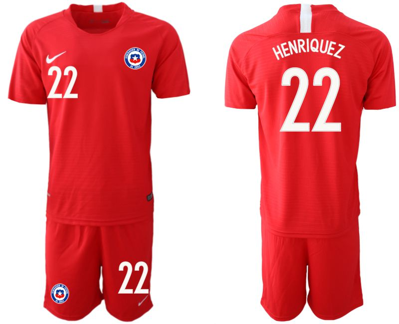 Men 2018-2019 National Team Chile home 22 red Soccer Jerseys