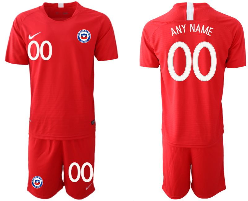 Men 2018-2019 National Team Chile home customized red Soccer Jerseys