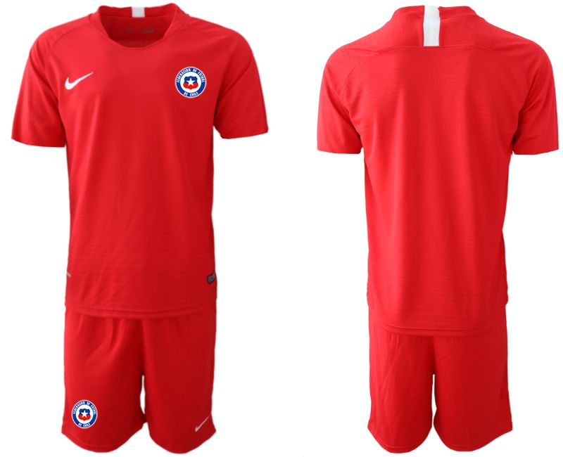 Men 2018-2019 National Team Chile home red Soccer Jerseys