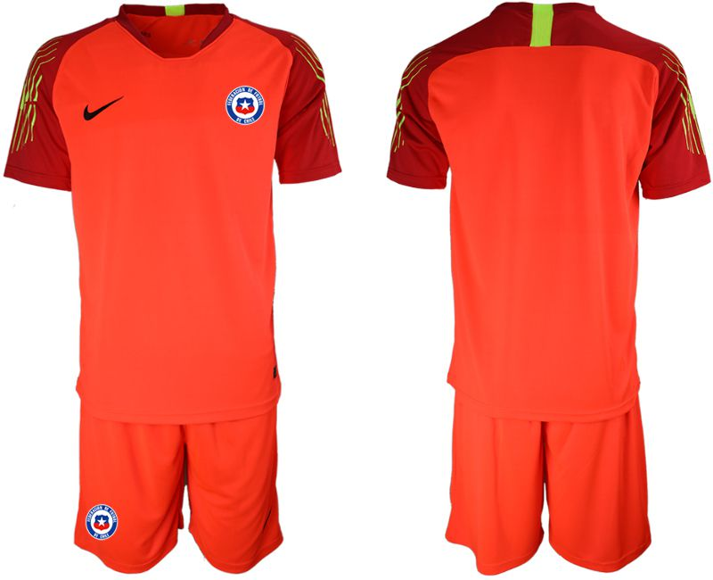 Men 2018-2019 National Team Chile red goalkeeper Soccer Jerseys