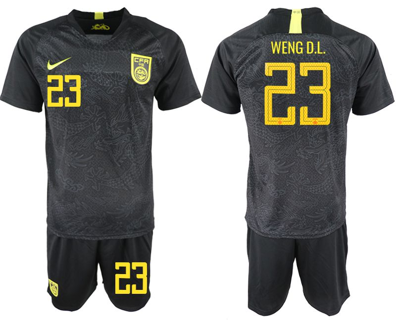 cheaper 82bca 4589f Men 2018-2019 National Team China away 23 black Soccer Jerseys