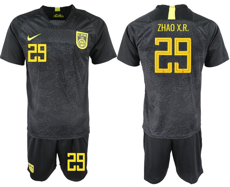 Men 2018-2019 National Team China away 29 black Soccer Jerseys