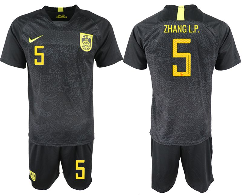 Men 2018-2019 National Team China away 5 black Soccer Jerseys