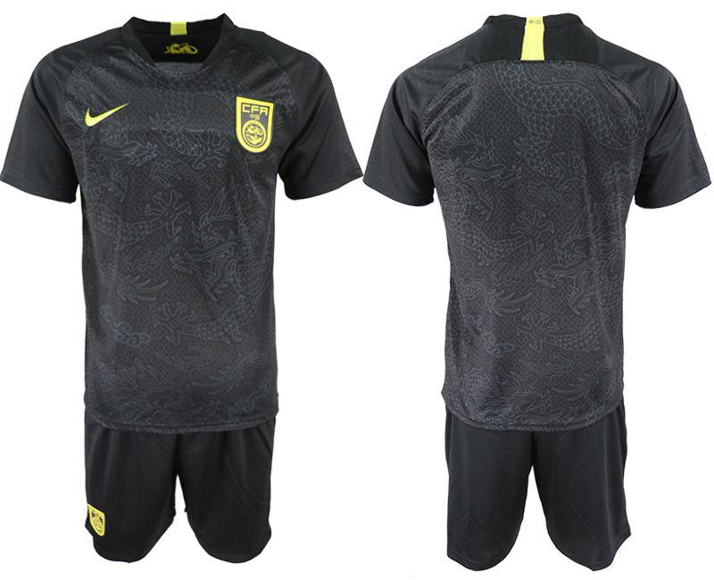 cc5eff20a4d2e0 Men 2018-2019 National Team China away black Soccer Jerseys