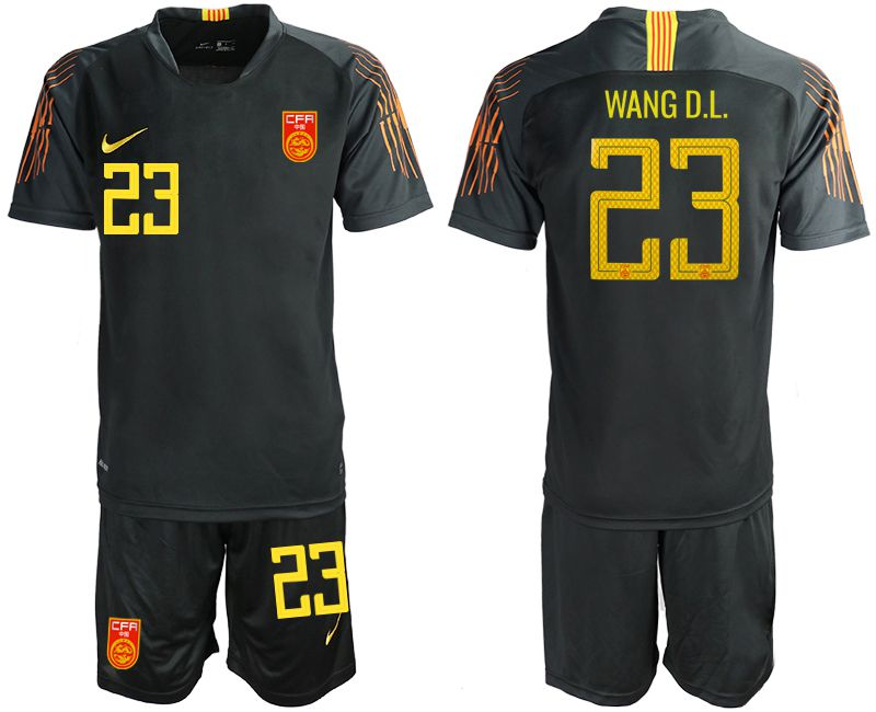 Men 2018-2019 National Team China black goalkeeper 23 Soccer Jerseys