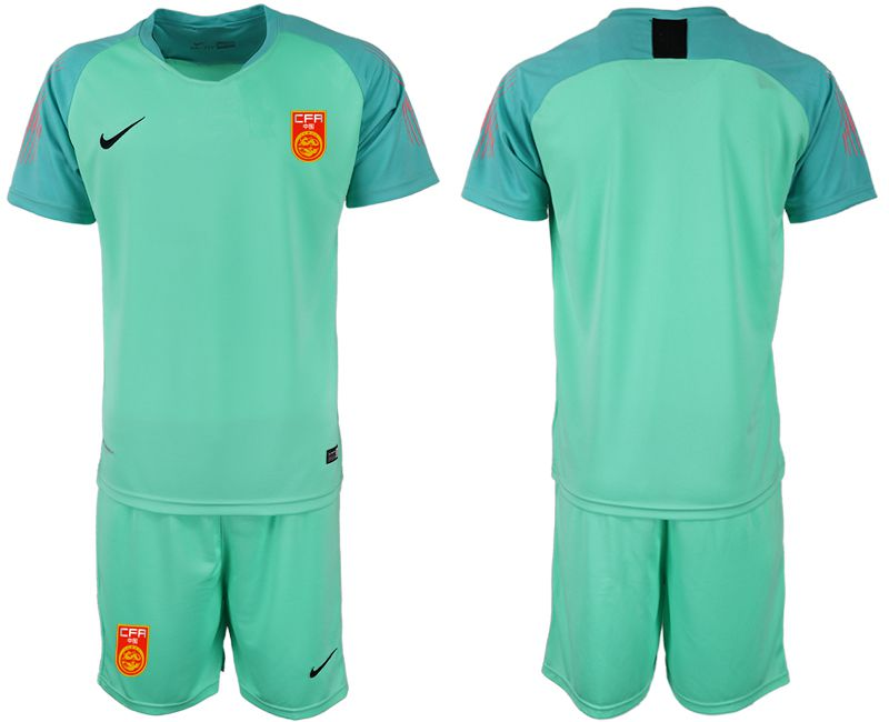 Men 2018-2019 National Team China green goalkeeper Soccer Jerseys