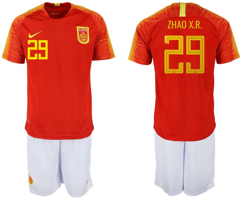 Men 2018-2019 National Team China home 29 red Soccer Jerseys