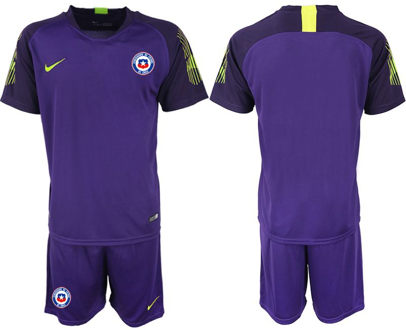 Men 2018-2019 National Team chile purple goalkeeper Soccer Jerseys