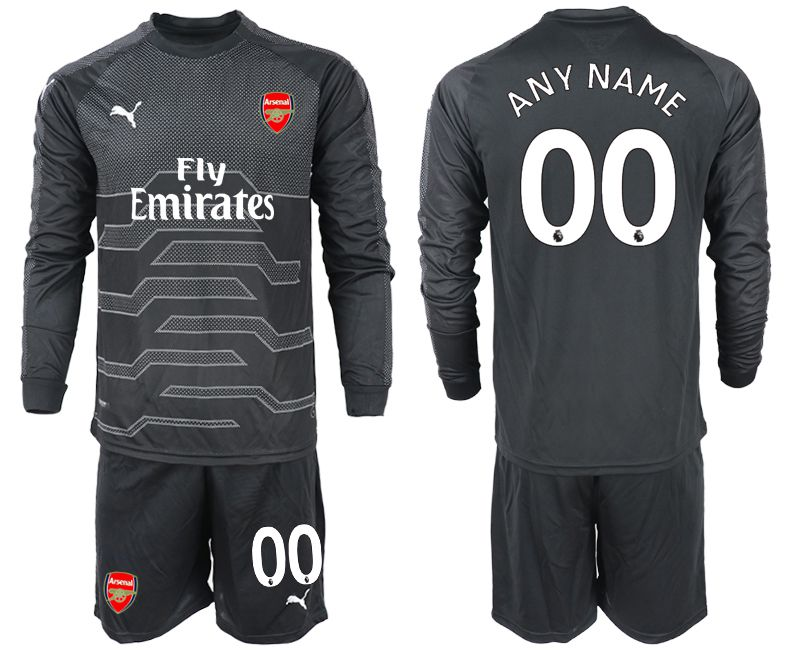 Men 2018-2019 club Arsenal black goalkeeper Long sleeve customized Soccer Jerseys