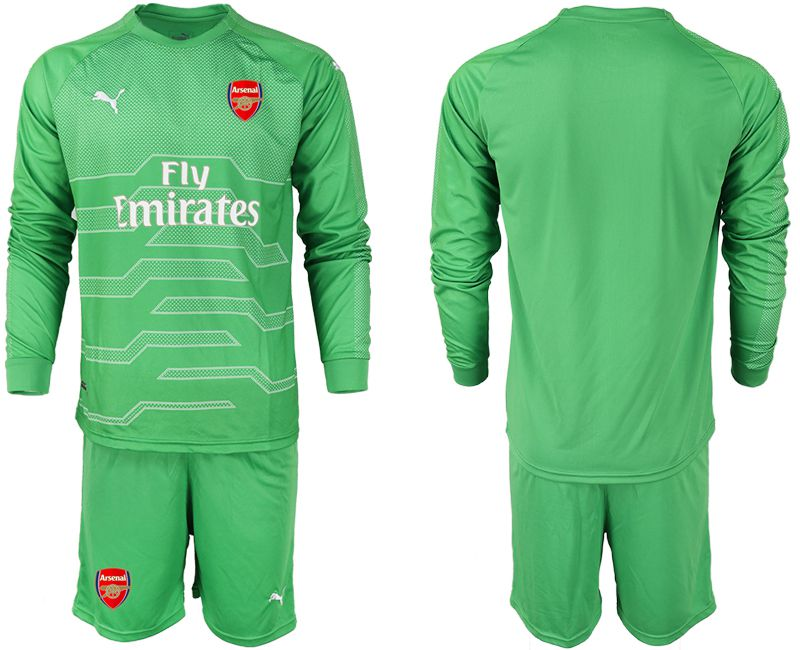 Men 2018-2019 club Arsenal green goalkeeper long sleeve Soccer Jerseys