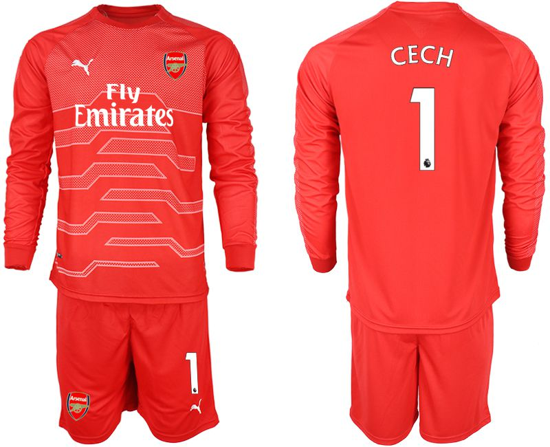 Men 2018-2019 club Arsenal red goalkeeper long sleeve 1 Soccer Jerseys